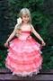 Платье детское коралловое 10-002
