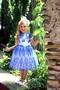 Платье детское бело-синее 10-003